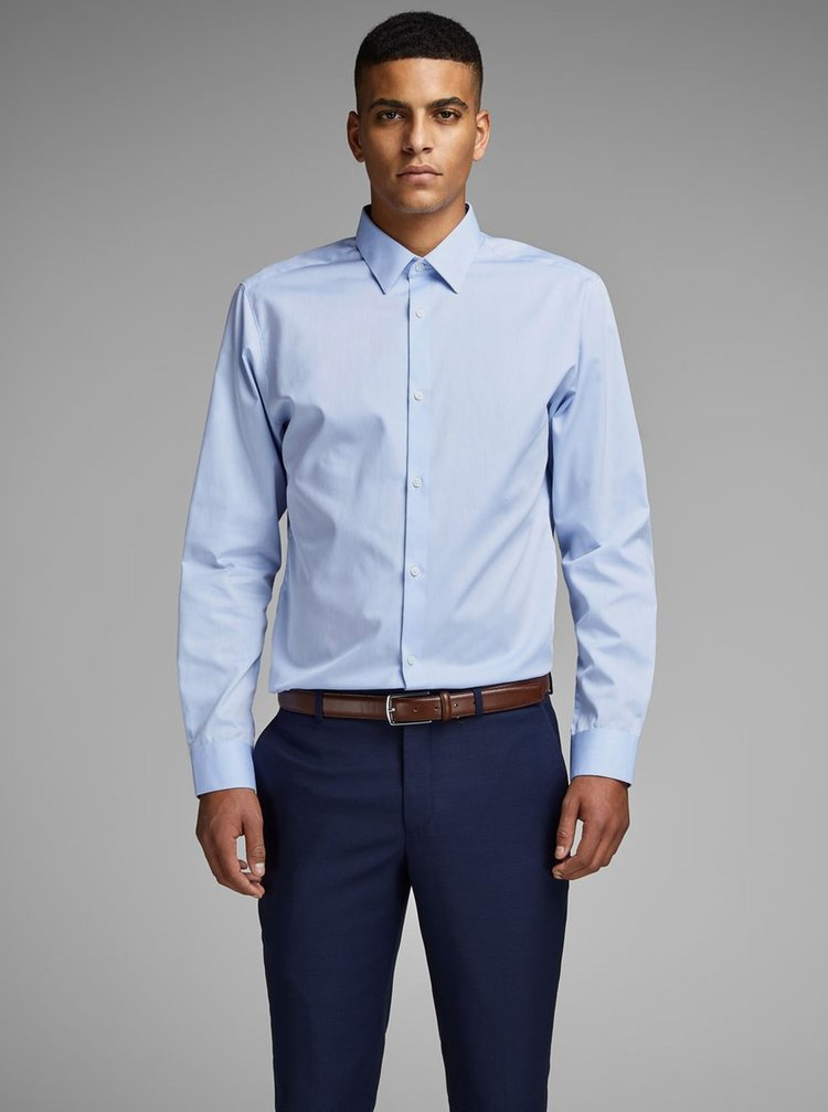 Světle modrá formální slim fit košile Jack & Jones Non