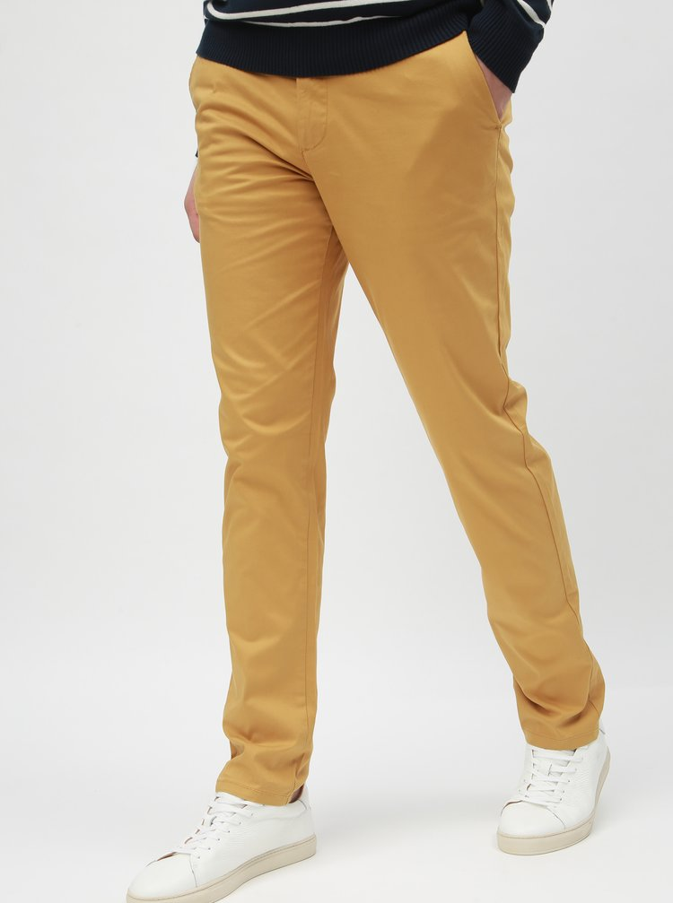 Žlté slim nohavice s opaskom Selected Homme Yard