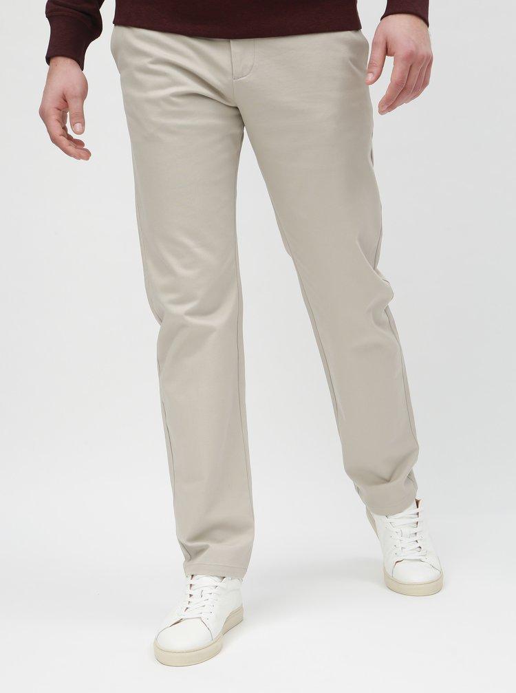Krémové slim kalhoty Selected Homme Carlo