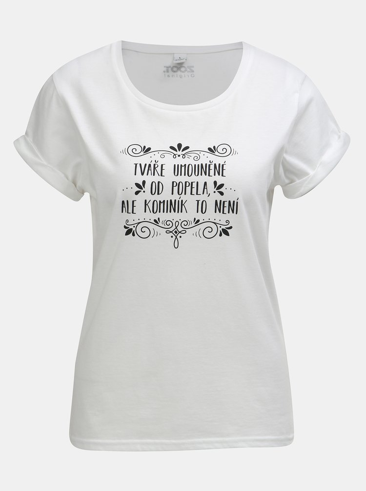 Biele dámske tričko s potlačou ZOOT Original Popoluška