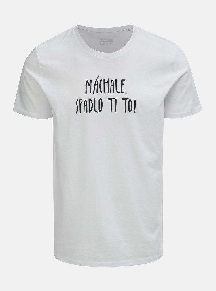 Bílé pánské tričko s potiskem ZOOT Original Máchale