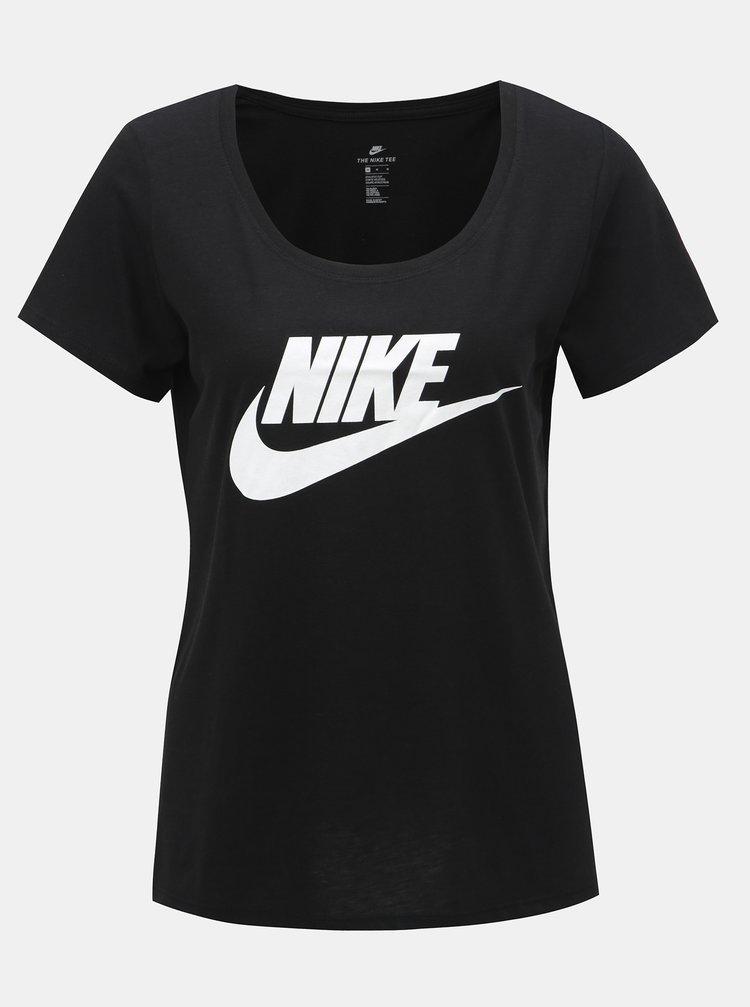 Černé dámské tričko s potiskem Nike