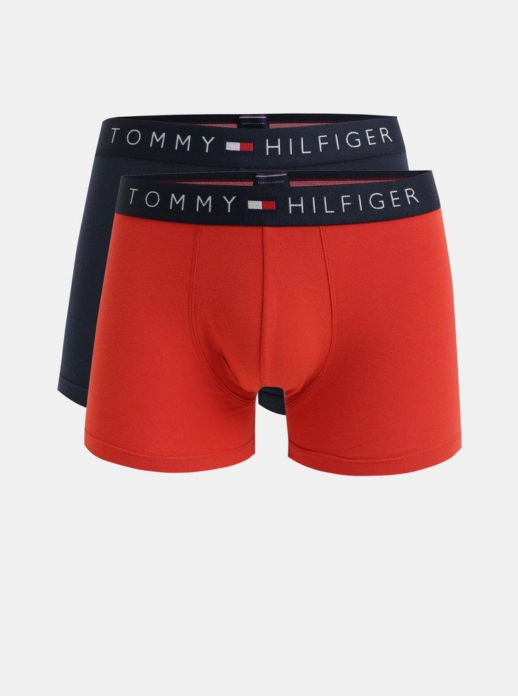 Sada dvou boxerek v červené a modré barvě Tommy Hilfiger