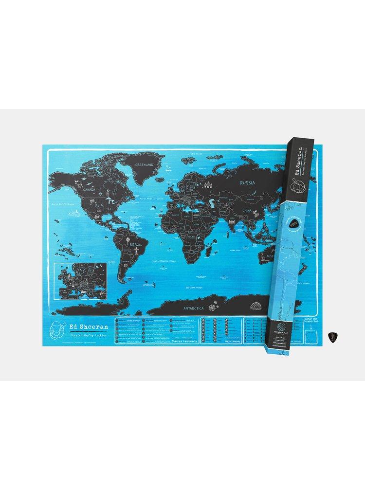Nástěnná stírací mapa Ed Sheeran by Luckies