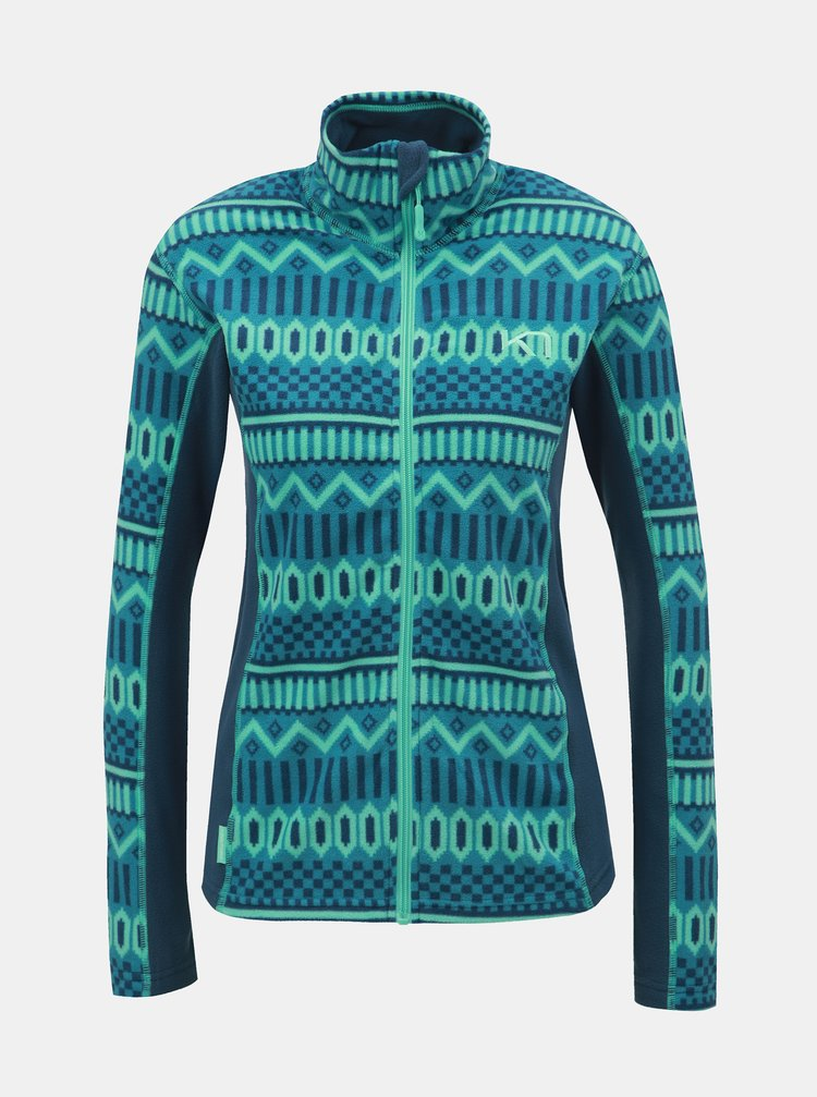 Bluza sport turcoaz din fleece cu model Kari Traa Kroll