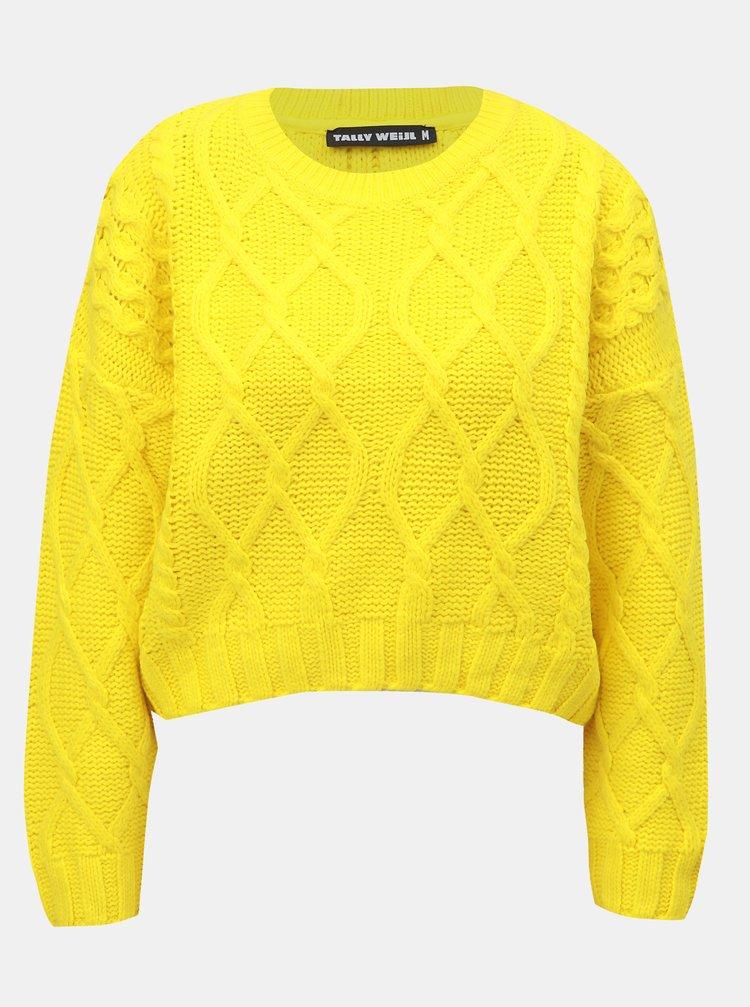 Žlutý svetr s dlouhým rukávem TALLY WEiJL