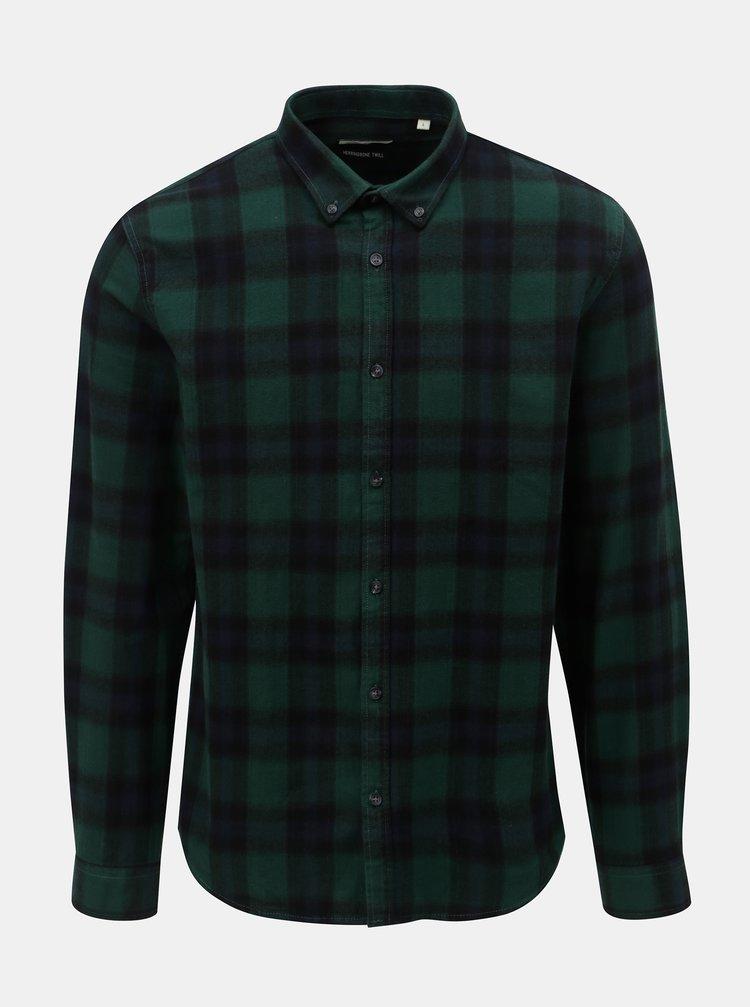 Modro–zelená kockovaná košeľa Shine Original