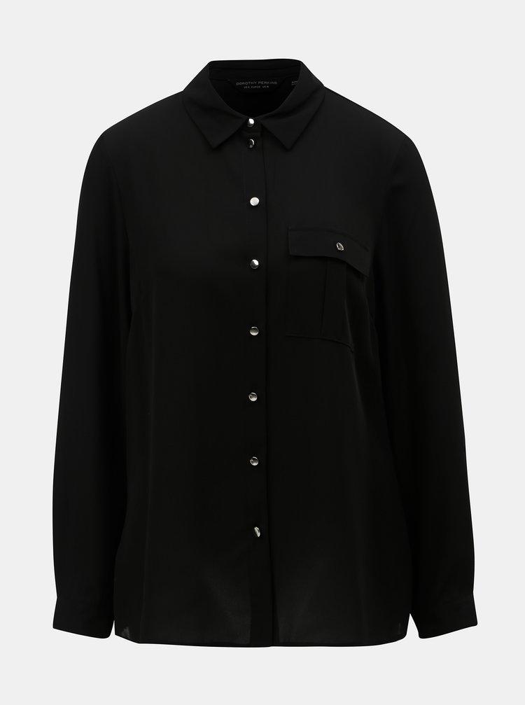 Bluza neagra cu buzunar Dorothy Perkins