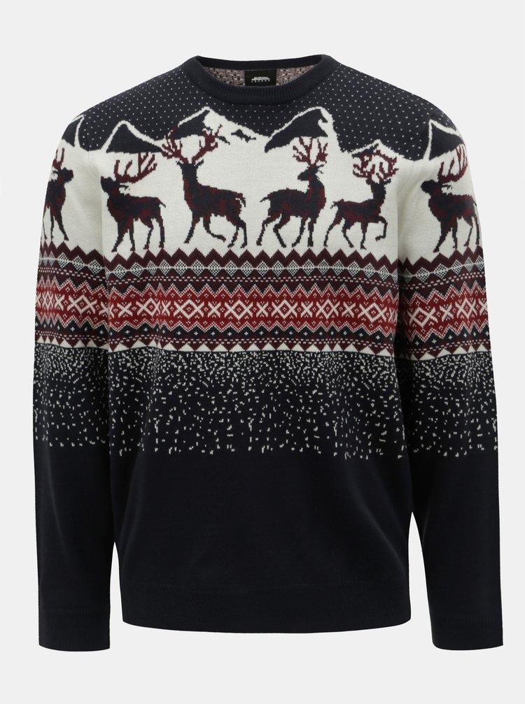 ... Bílo-modrý svetr s vánočním motivem Burton Menswear London a89ee266bf