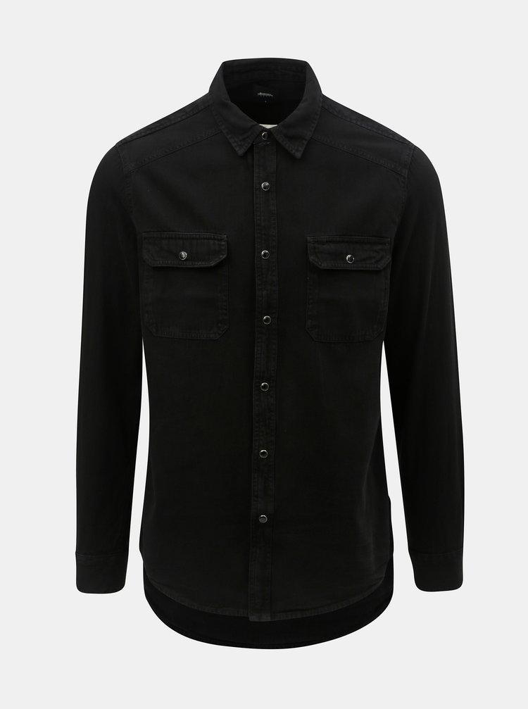 Černá džínová košile Burton Menswear London