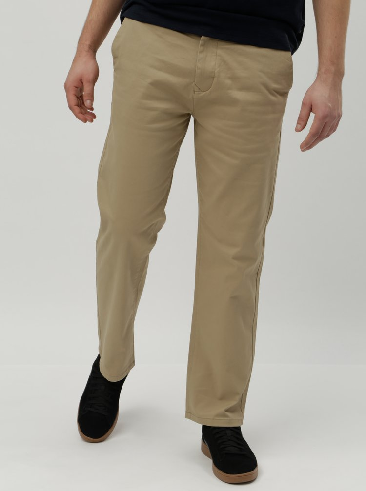 Pantaloni bej straight chino Burton Menswear London