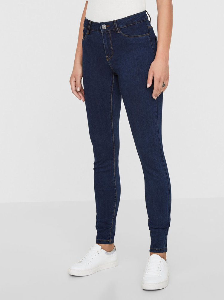Modré slim fit rifle VERO MODA Seven