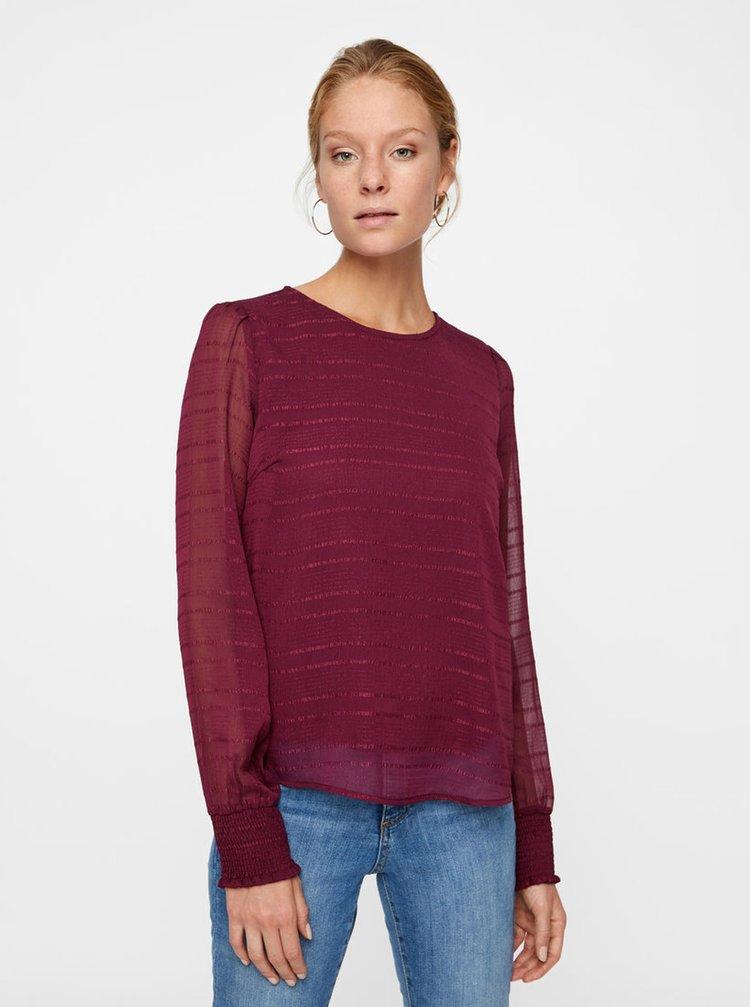 Bluza visinie cu model si maneci translucide VERO MODA Fiona