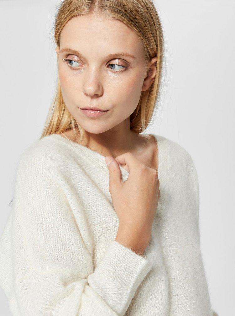 073f4d4b2b84 ... Krémový sveter s prímesou vlny Selected Femme Flivana