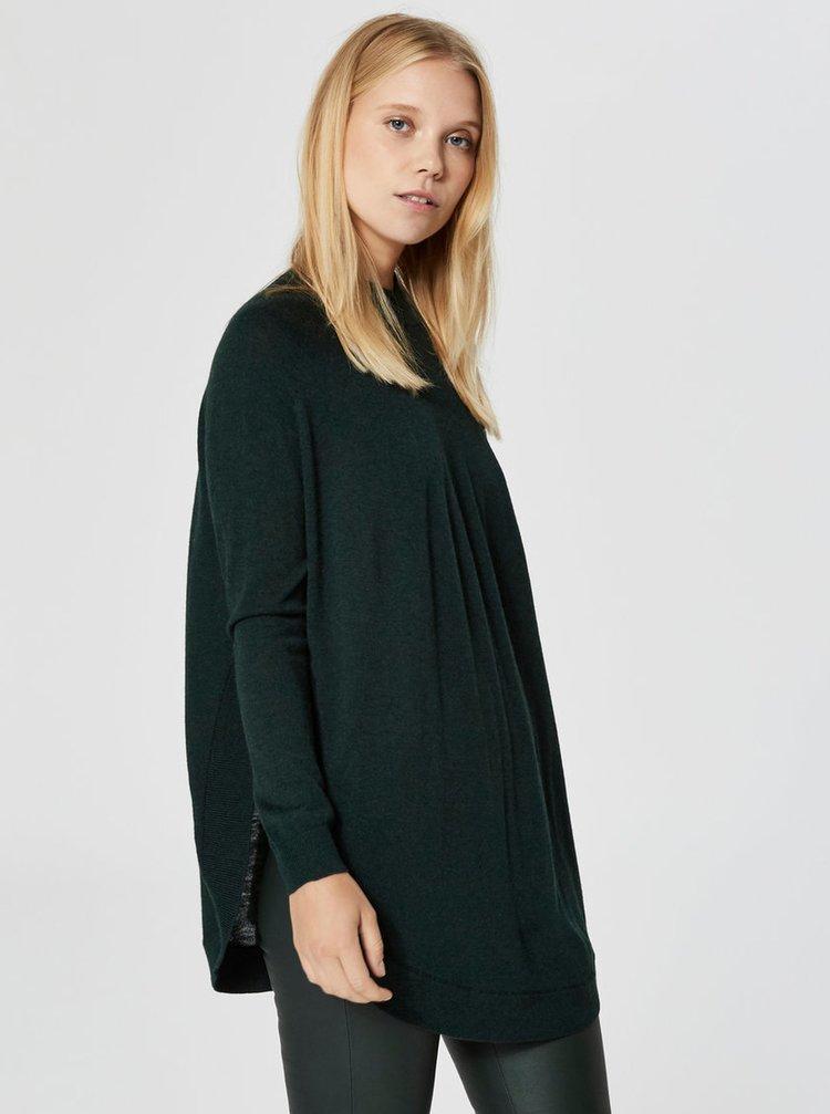 Zelený volný vlněný svetr Selected Femme