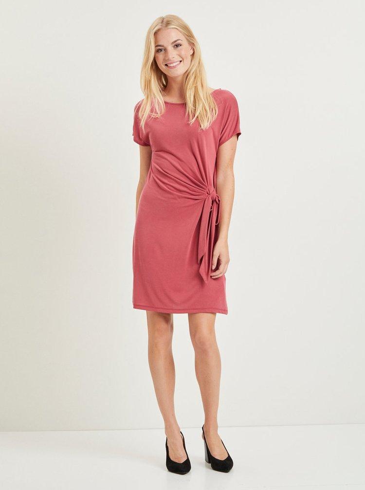 Růžové šaty VILA Tetsy