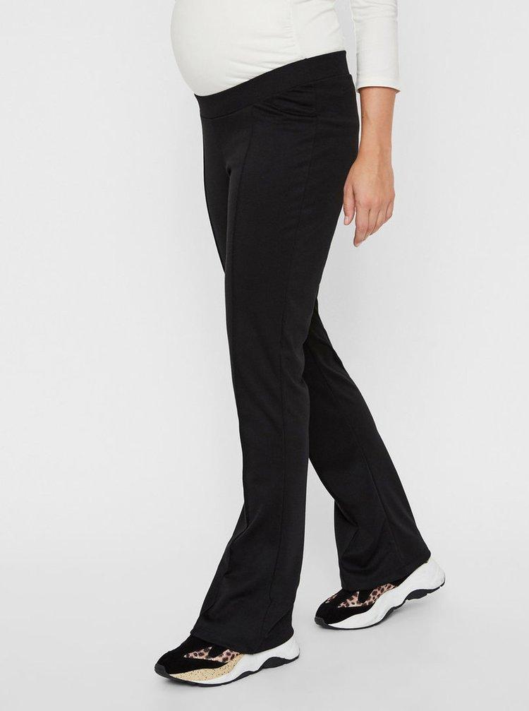 Černé těhotenské zvonové kalhoty Mama.licious Janette