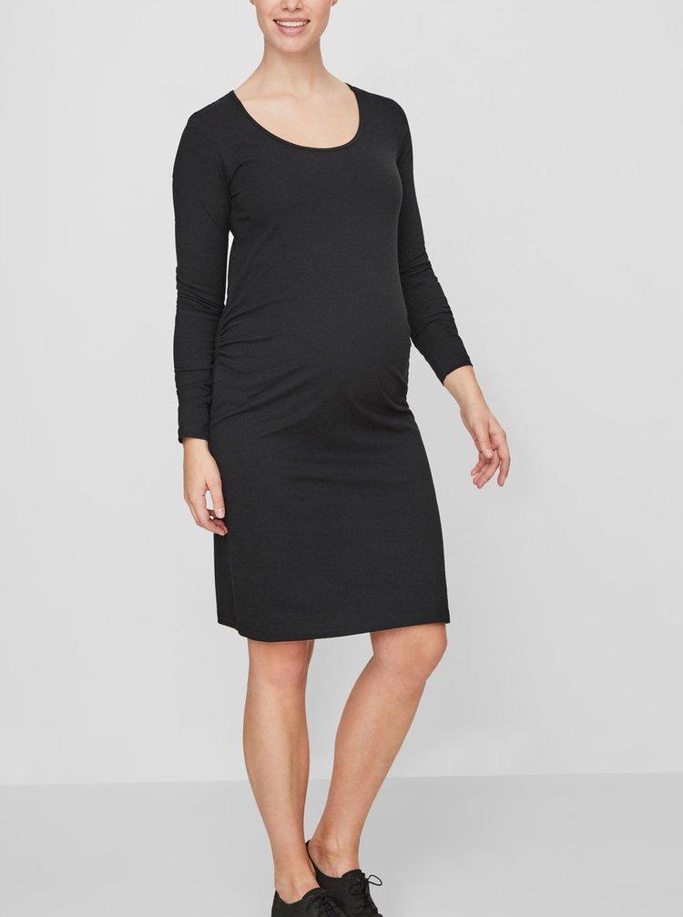 Čierne tehotenské šaty Mama.licious Lea