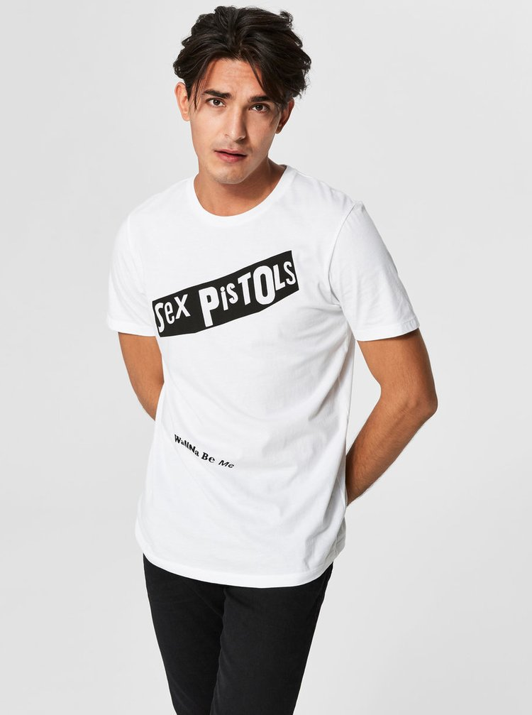 Bílé tričko s krátkým rukávem Selected Homme Prince