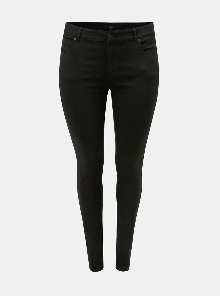 Černé elastické skinny džíny Zizzi