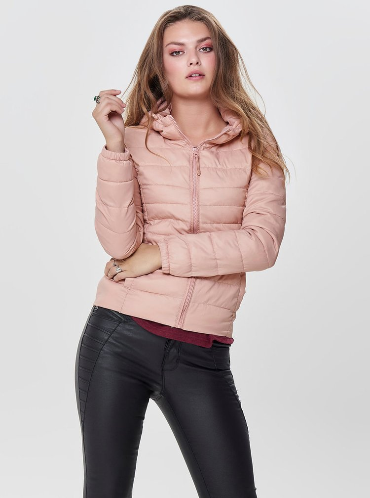 Jacheta roz deschis matlasata ONLY