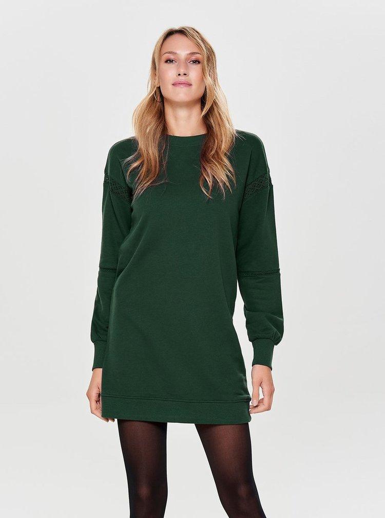 Zelené mikinové šaty ONLY Lisa