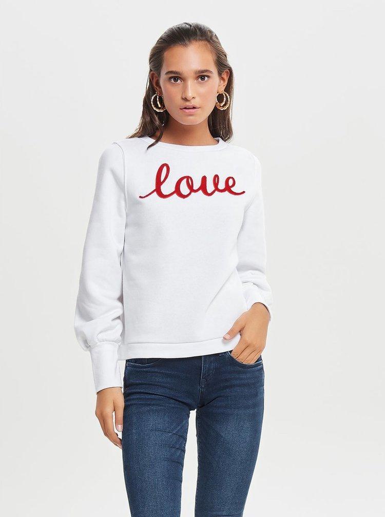 Bluza sport rosu-alb ONLY Donna