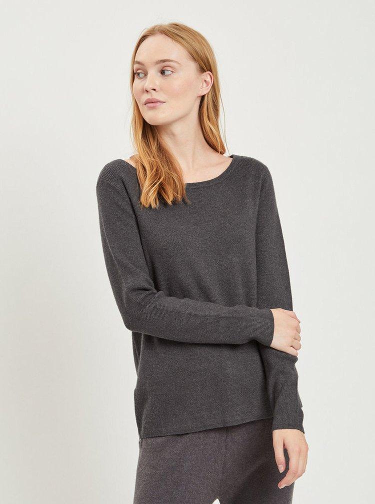 Tmavosivý sveter VILA Ril