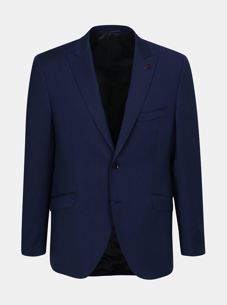 Modré oblekové vlněné sako Good Son