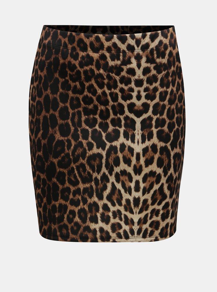 Fusta negru-mustar cu motiv leopard TALLY WEiJL