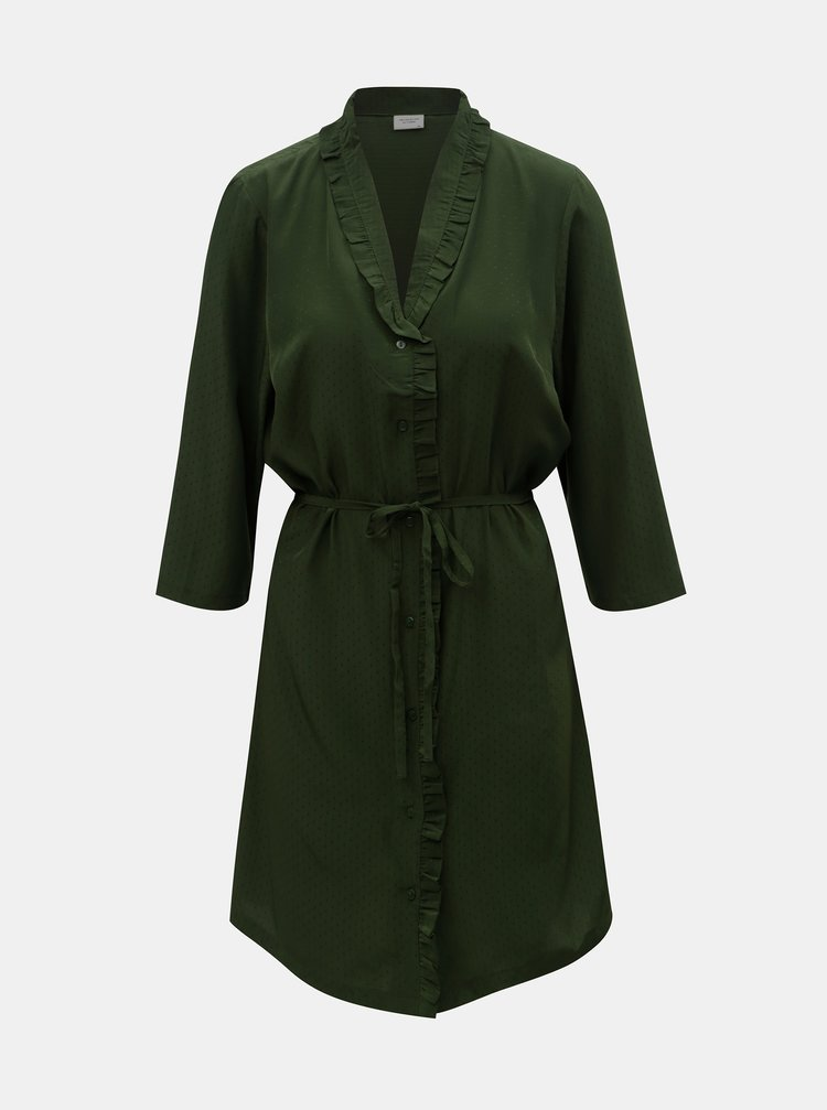 Rochie tip camasa verde Jacqueline de Yong Gilbert