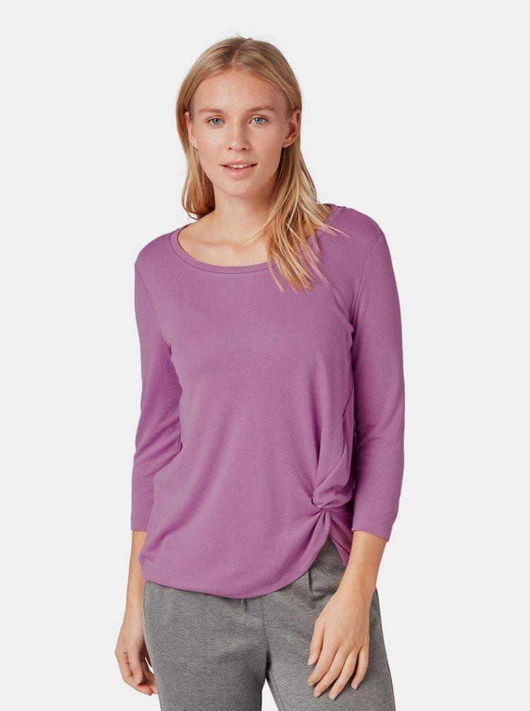 Fialové dámské tričko s řasením na boku Tom Tailor