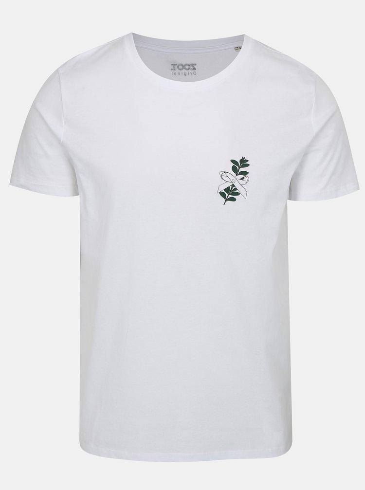 Tricou barbatesc alb cu print ZOOT Mirt
