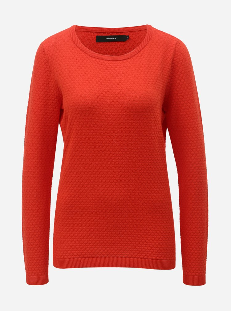 Červený sveter VERO MODA Care