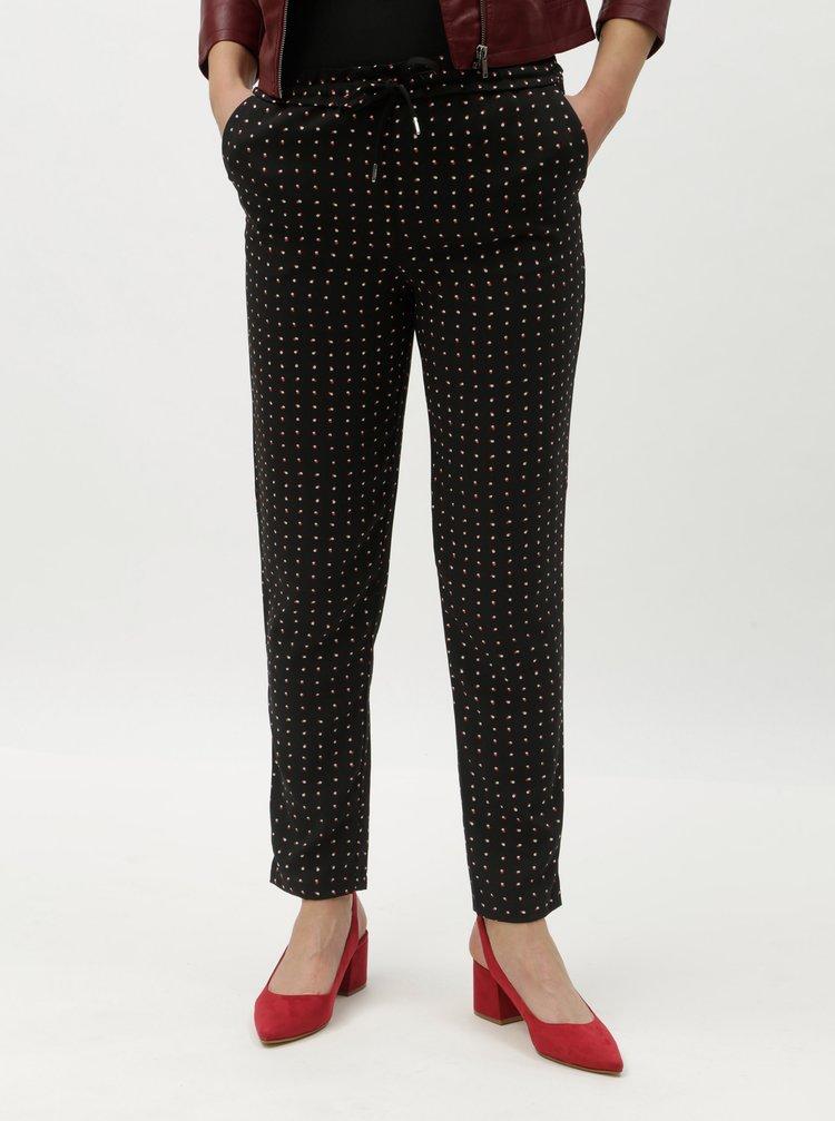 Čierne vzorované nohavice ONLY Michelle
