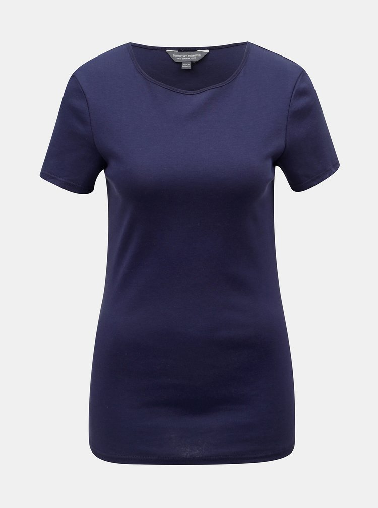Tmavomodré basic tričko Dorothy Perkins Tall