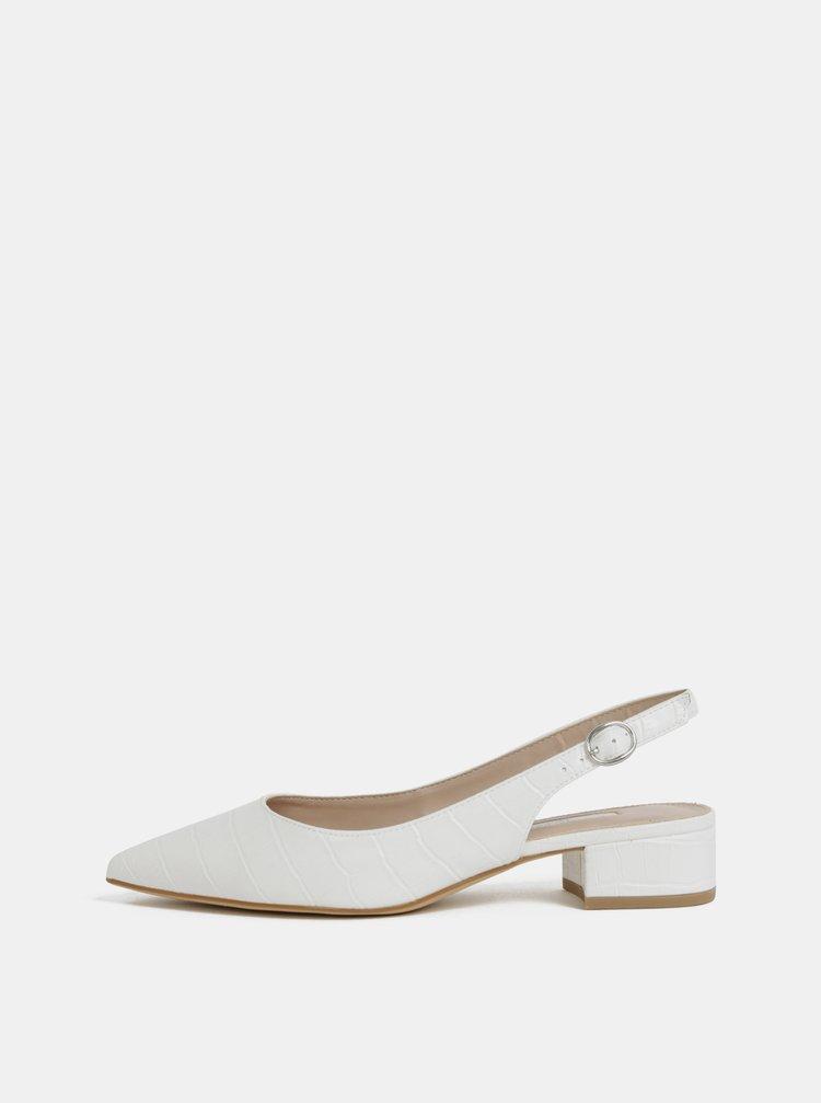 Pantofi albe cu motiv crocodil Dorothy Perkins