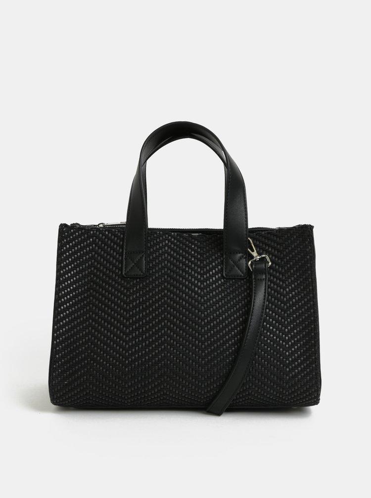 Čierna vzorovaná kabelka Pieces Bitten