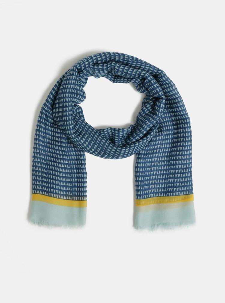 Modrá vzorovaná šatka Pieces Bakira