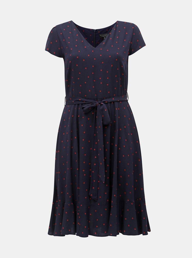 Tmavě modré vzorované šaty Billie & Blossom Curve