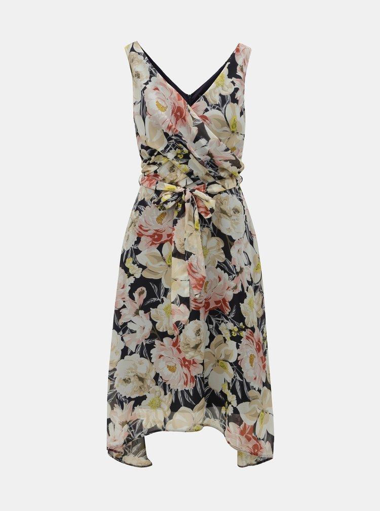 Modro-béžové květované šaty Billie & Blossom