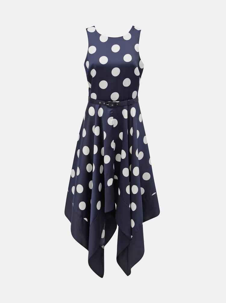 Tmavě modré puntíkované šaty Dorothy Perkins