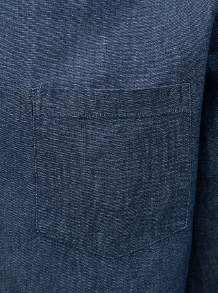 75a2204bf94d Modrá rifľová košeľa Burton Menswear London