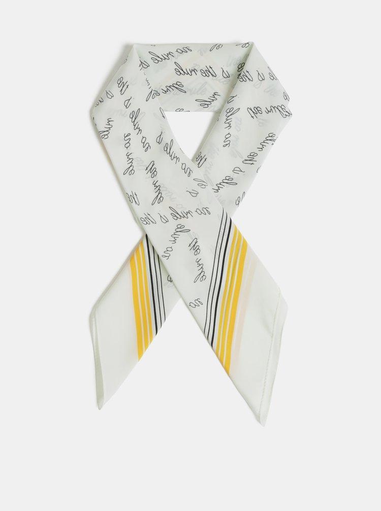 Žluto-krémový šátek ONLY Statement