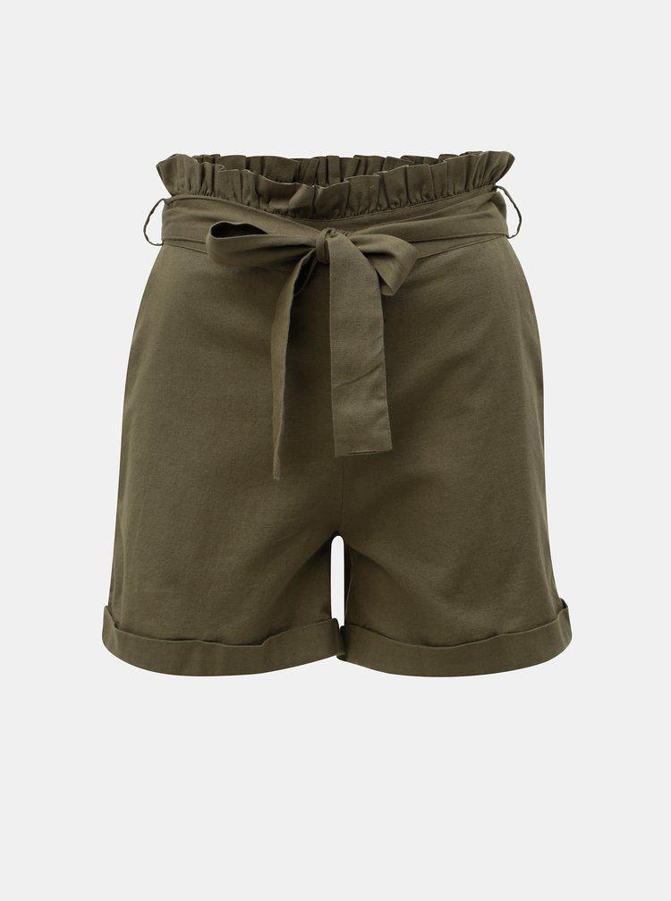 Pantaloni scurti kaki cu amestec de in Noisy May Line