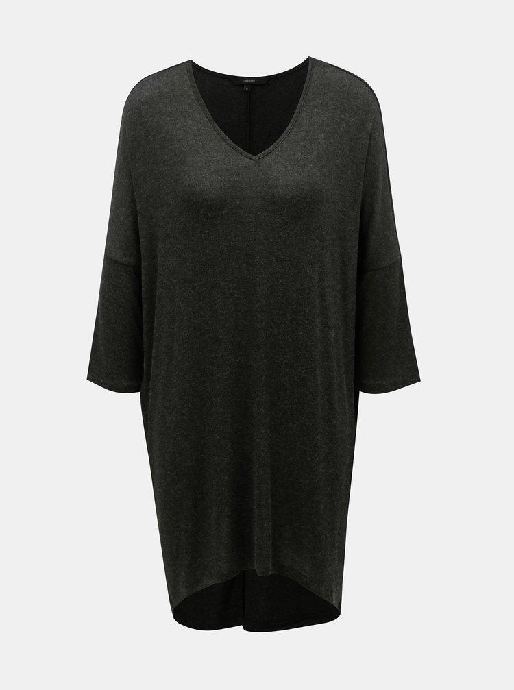Černé dlouhé žíhané basic tričko VERO MODA Paya