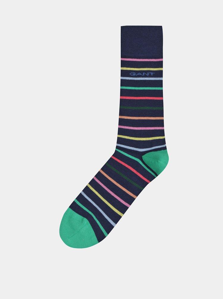 Tmavě modré pruhované ponožky GANT