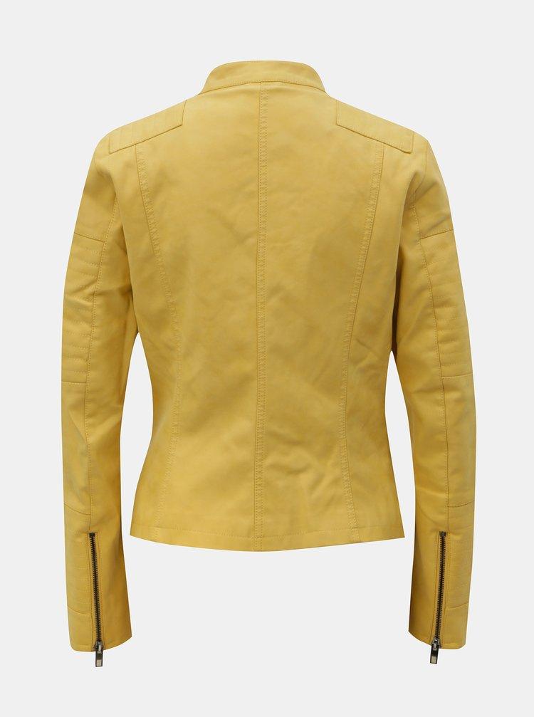 3e5aee087 ... Žltá koženková bunda ONLY Ava