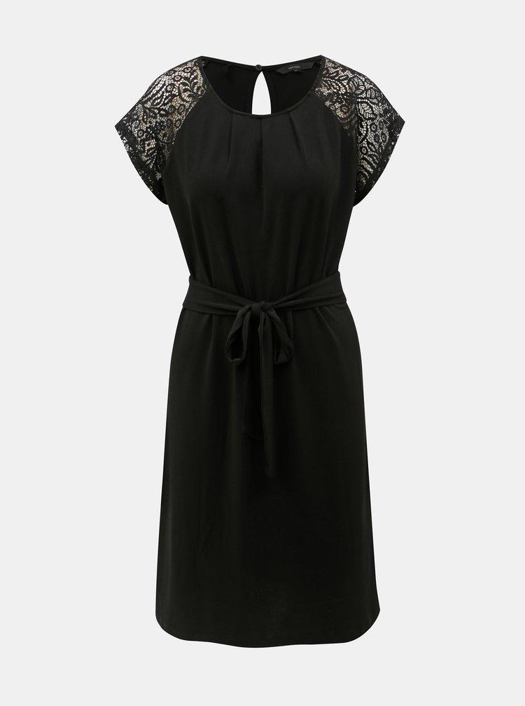 Černé šaty s krajkovými rukávy VERO MODA Alberta