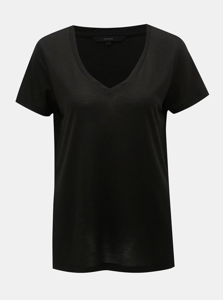 Černé basic tričko VERO MODA Spicy